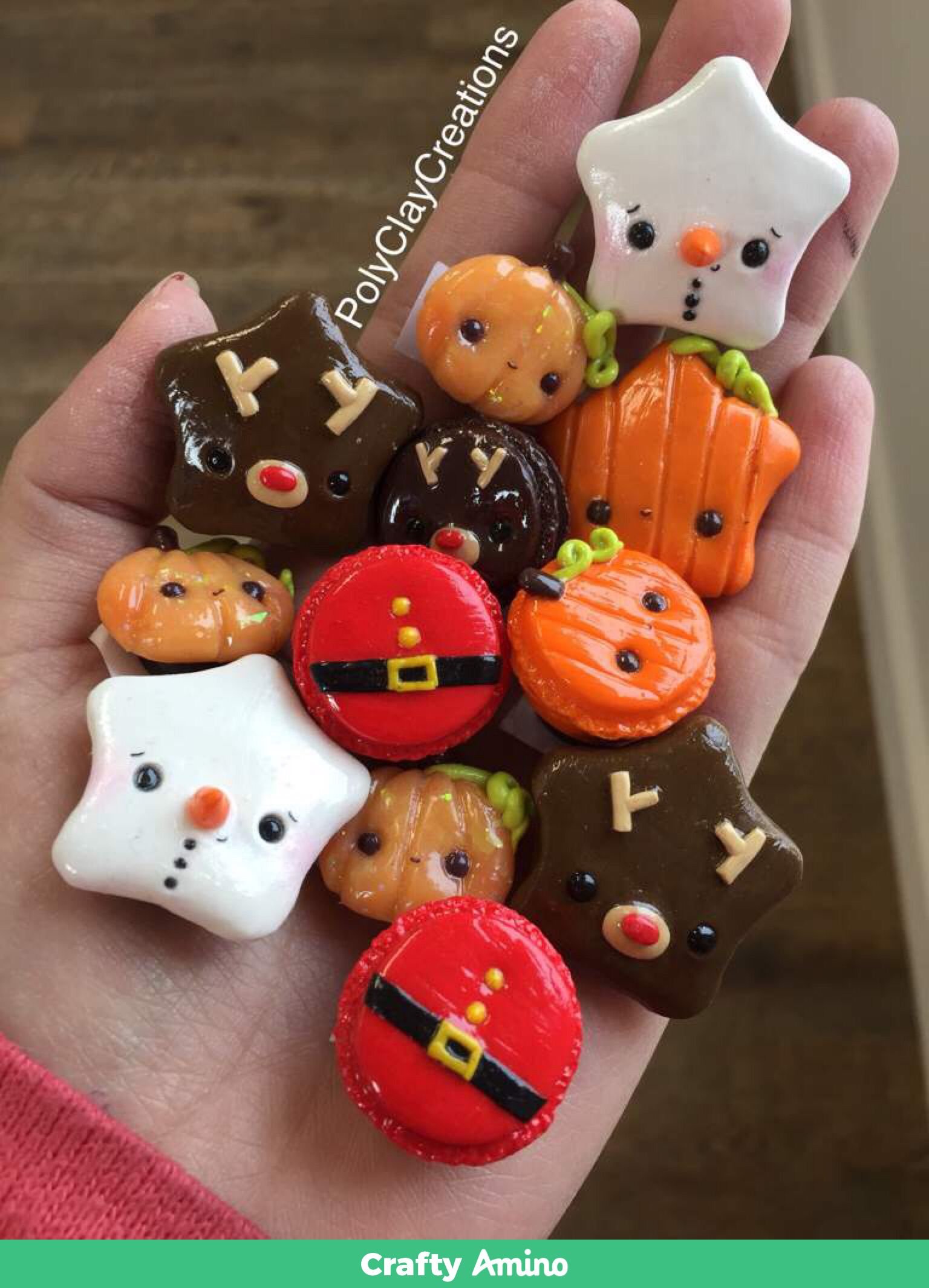 Halloween Christmas Charms Polymer Clay Christmas Clay Magnets Clay Crafts