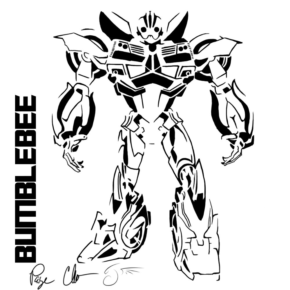 Bumblebee Transformer Coloring Page 2019 Http Www Wallpaperartdesignhd Us Bumblebee Transformer Transformers Coloring Pages Bee Coloring Pages Coloring Pages