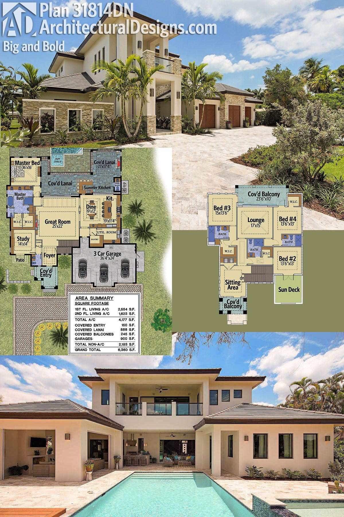 Architectural Designs Luxury House Plan 31814dn Big And Bold Ready When You Are Where Do You Want T House Plans Mansion Luxury House Plans Dream House Plans