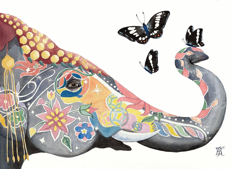 Love this! Elephant, PRINT. $48.00, via Etsy.