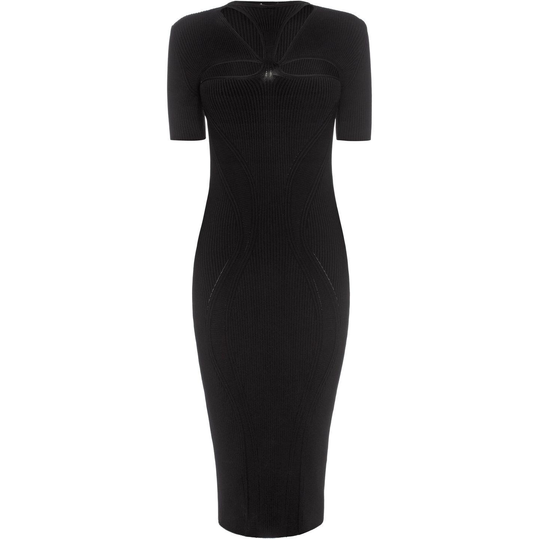 Women Mid Length Dress Women Dresses On Alexander Mcqueen Online Store Black Cutout Dress Clothes Design Black Pencil Dress [ 1440 x 1440 Pixel ]