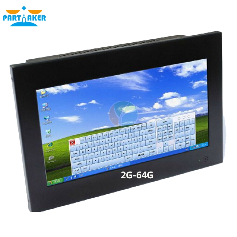 (484.53$)  Buy here - http://aicwj.worlditems.win/all/product.php?id=1092796078 - 2016 latest fanless all in one pc with 10.1-inch 1024 * 600  Industrial 4-wire resistive touch screen 2G RAM 64G SSD