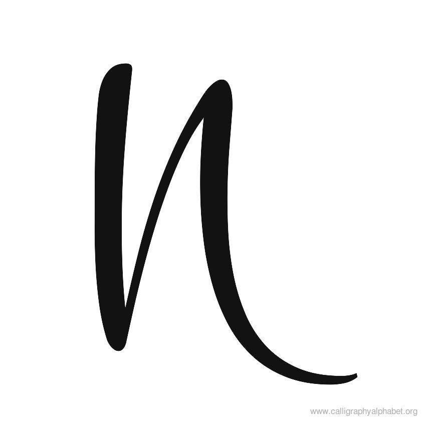 Calligraphy alphabet cursive n letter pinterest