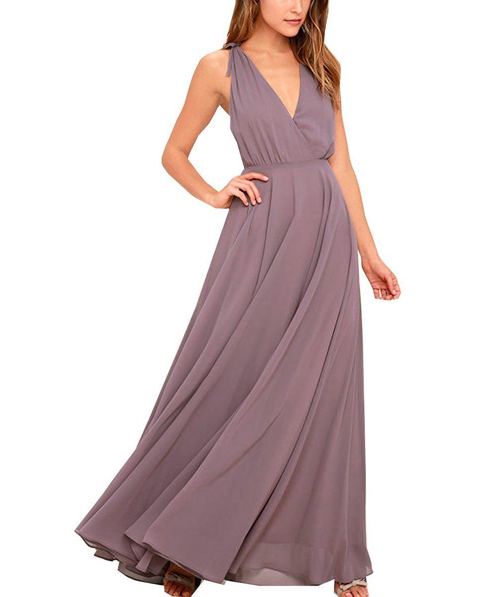 Wulidress womens chiffon v neck bridesmaid dresses for weddings long