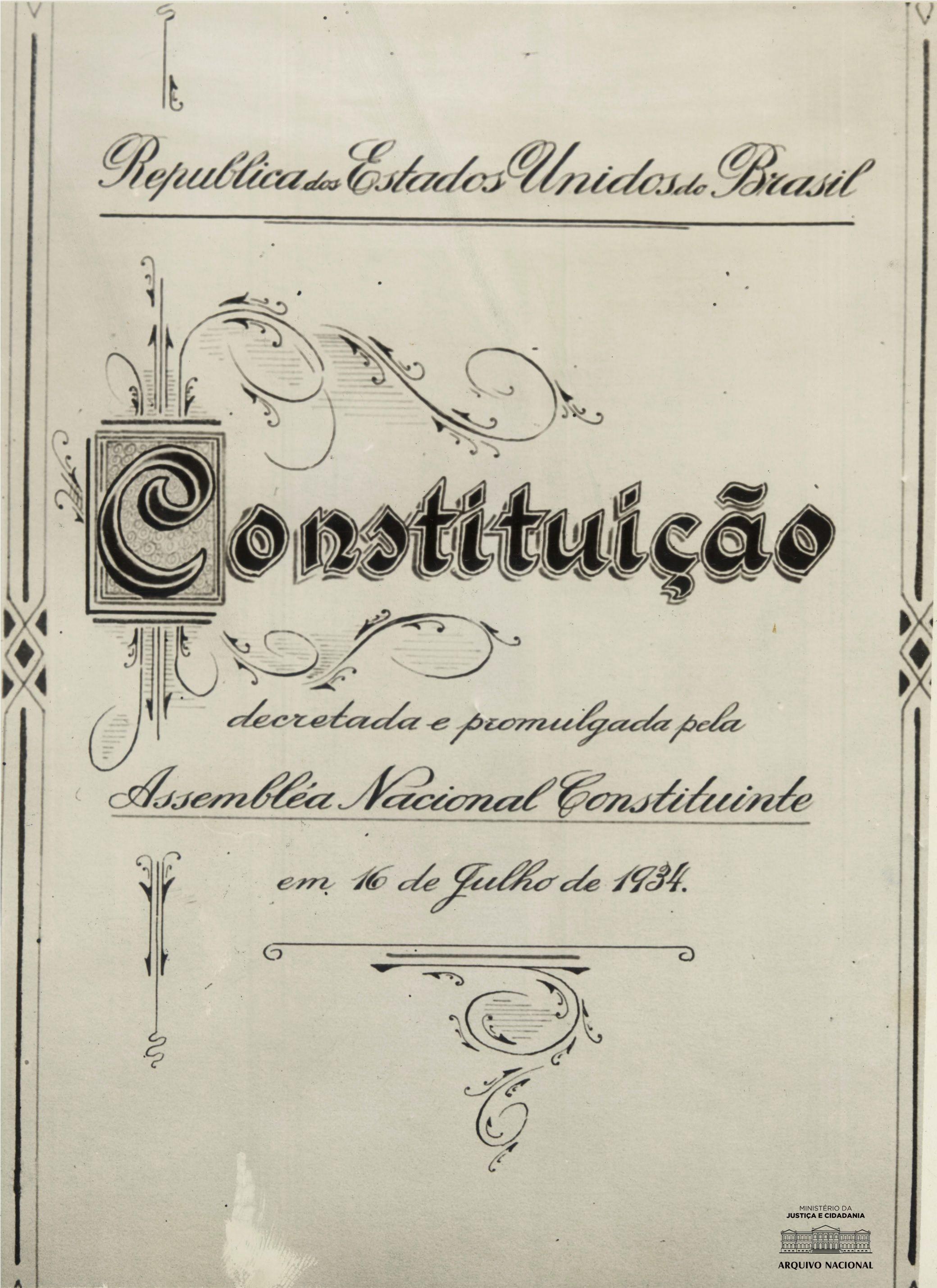 Constituicao Da Republica Dos Estados Unidos Do Brasil De 1934