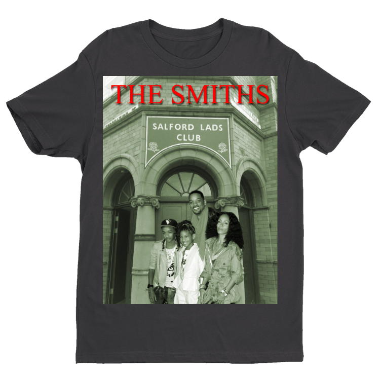 The Smiths in front of the iconic Salford Lads Club