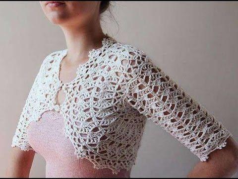 How To Crochet A Bolero Step By Step Youtube Brei En Haak Dingen