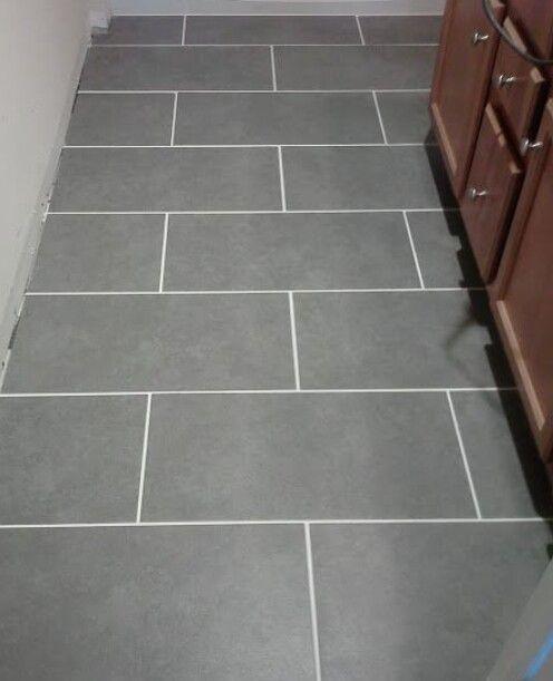 Grey Tile White Grout Grey Floor Tiles Grey Flooring Bathroom