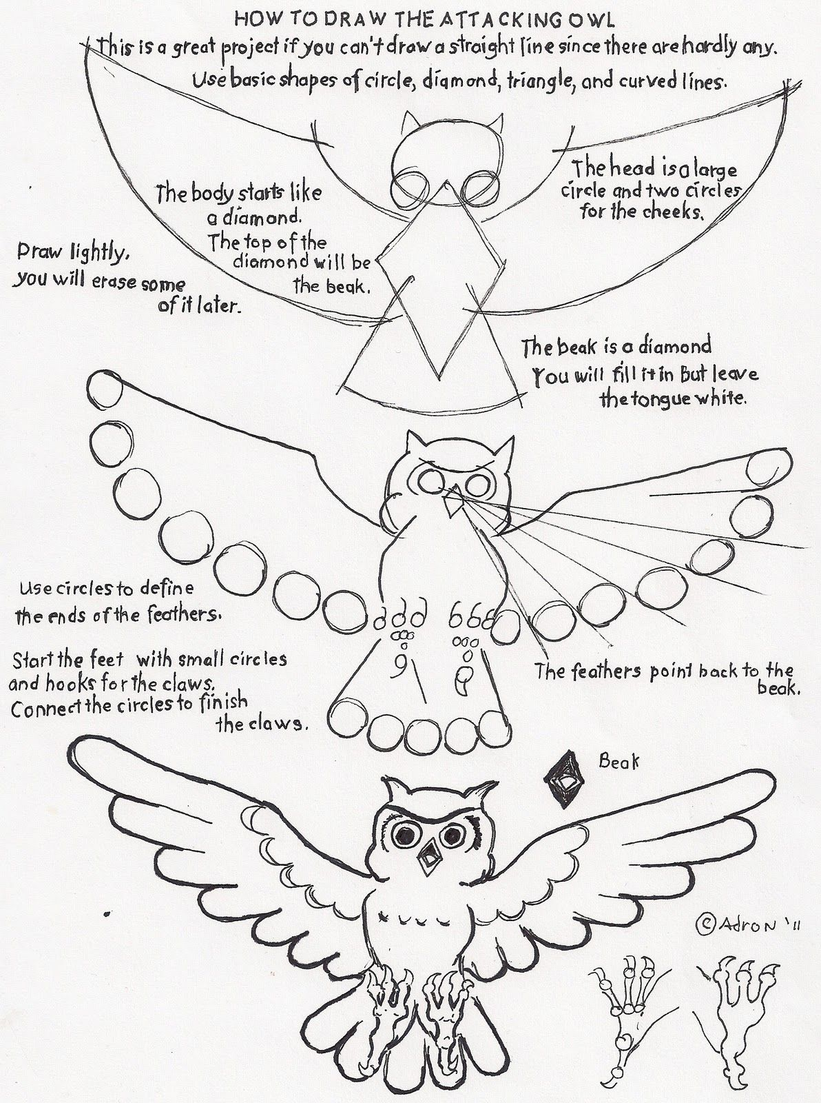 worksheet Owl Worksheets how to draw worksheets for the young artist an attacking owl