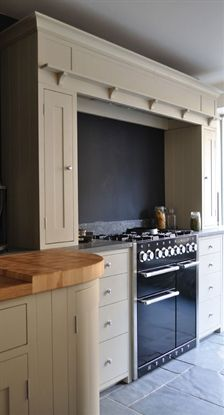 Gorgeous Suffolk Kitchen Canopy, Hand Painted In Dove Grey