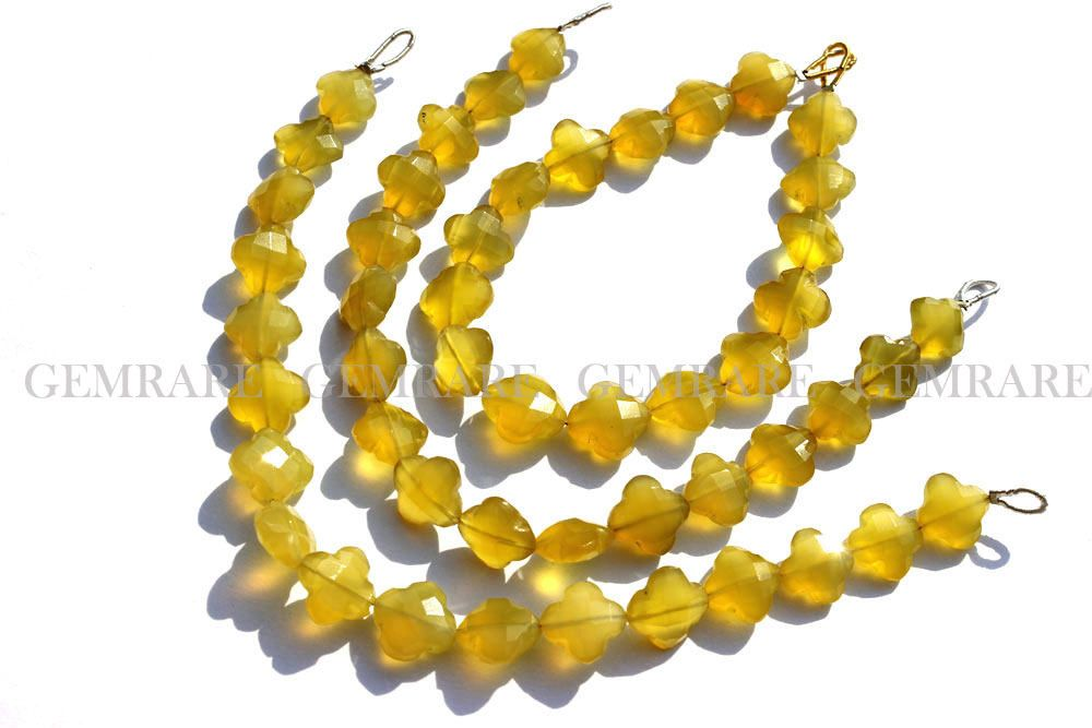 10 Pieces Full Strand Yellow Chalcedony Beads Gemstone Beads Chalcedony Beads Jewelry Beads Chalcedony Heart Faceted Beads