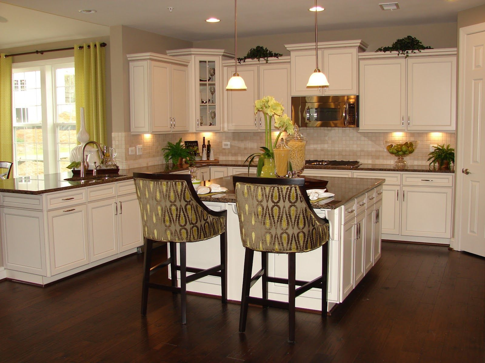 Model Home White Kitchen kitchen cabinets richmond - clubdeases