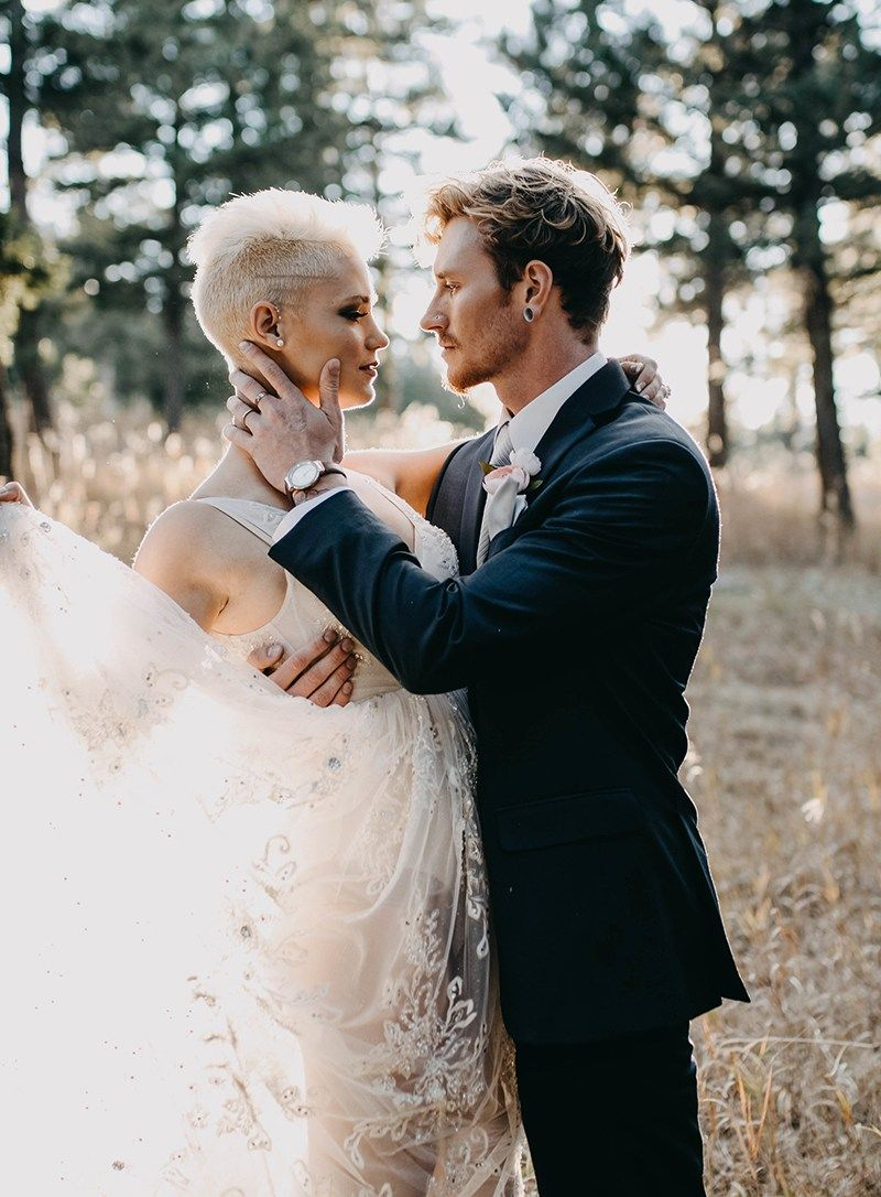 Donut miss the mohawk and sheer dress at this chic wedding