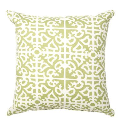 Darby Home Co Herndon Indoor/Outdoor Throw Pillow Color: Green