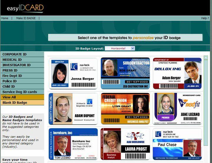 Online ID card creator: employee badges, membership, school and ...