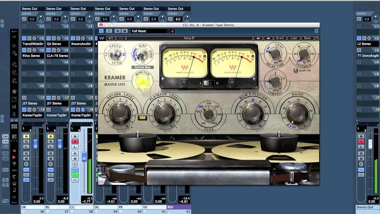 Mixing 201 Demonstration Waves Kramer Tape Mpx Vs Waves Abbey Road Abbey Road Tape Kramer
