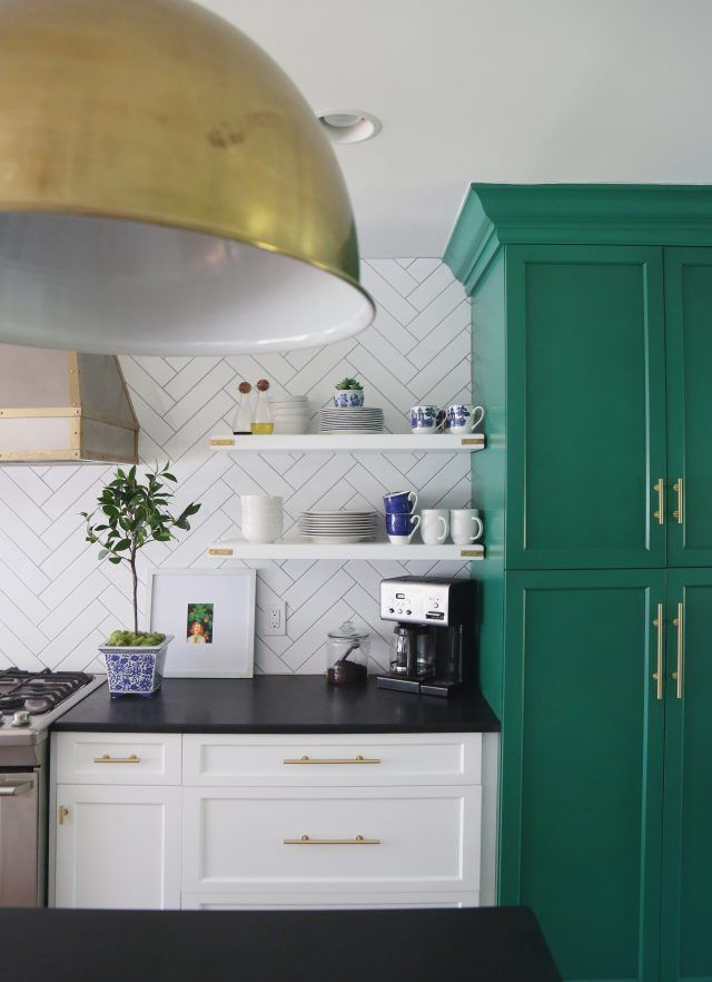 Photoshopping Crumbs And Other Truths Emily A Clark Kitchen Black Counter Green Cabinets White Granite