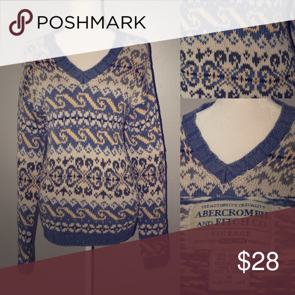 ABERCROMBIE & FITCH Vintage Fair Isle Sweater | Fair isles ...