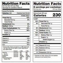Etiquetas nutricionales fdating