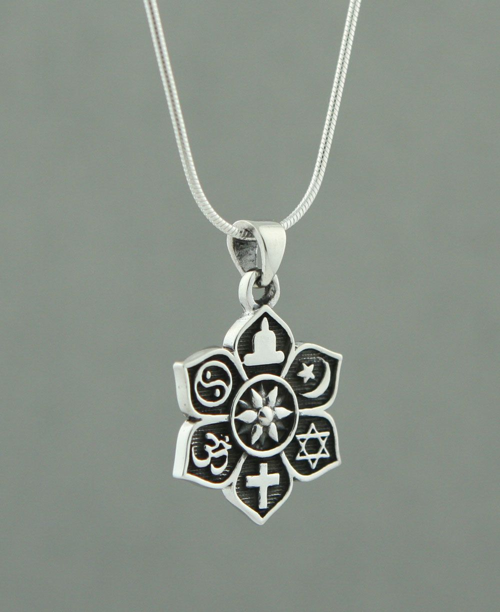 Coexist jewelry most popular and best image jewelry sterling silver coexist harmony pendant lotus design aloadofball Gallery