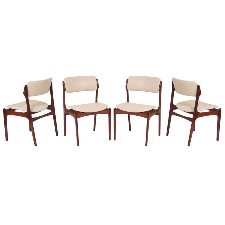 danish modern dining room chairs. Danish Modern Rosewood Dining Chairs By Erik Buck Room