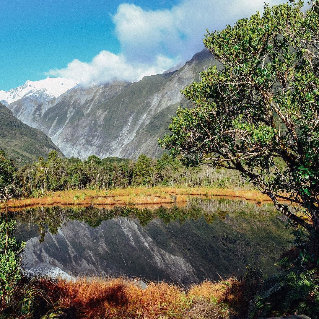 This is Peter's Pond it's along the wall to Franz Josef. One of the first views after a long hike through the rainforest