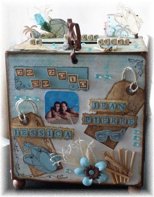 urne voyage parties urnes cr atives pinterest urne mariage cagnotte mariage et boite. Black Bedroom Furniture Sets. Home Design Ideas