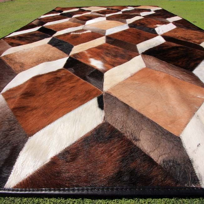 New Cowhide Rug Leather Cow Hide Animal Skin Patchwork