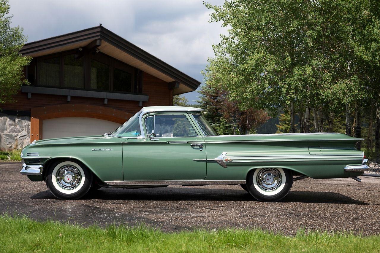 1960 Chevrolet El Camino, in a helluva nice shade of green ...