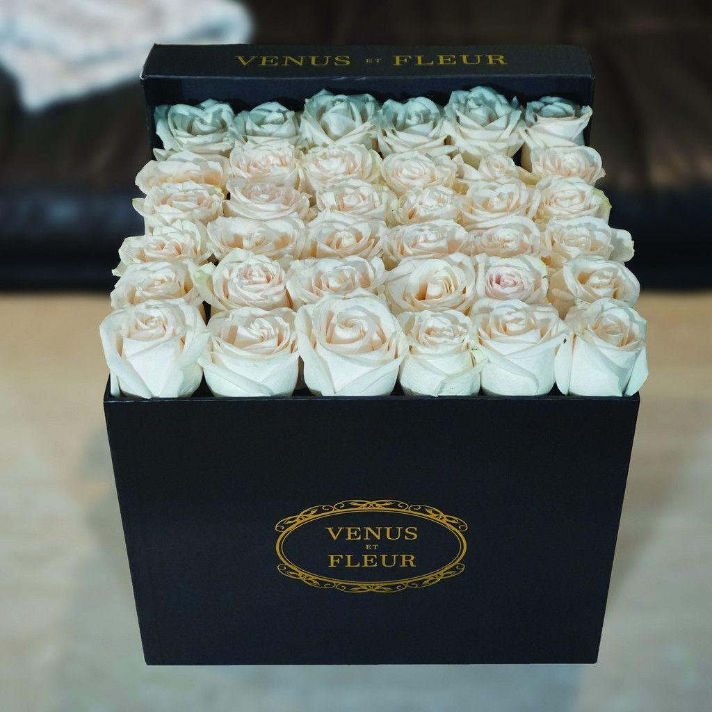 VENUS ET FLEUR Signature Large Square Box White wedding