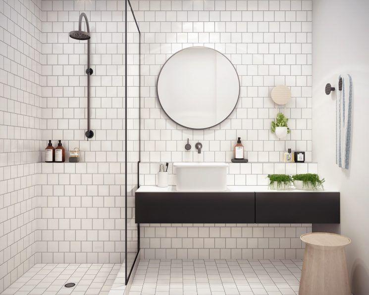 Pour une salle de bain scandinave monochrome | Kestie Lanes Studio