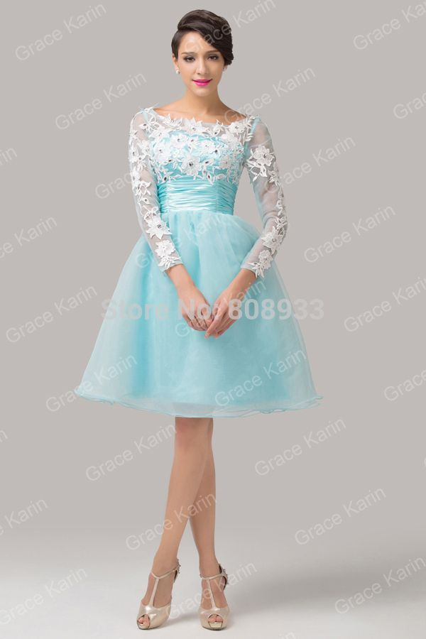 Light Blue Prom Dresses With Sleeves | jr miss | Pinterest
