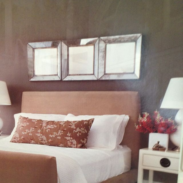 Mirrors Above Headboard Wall Color Simple