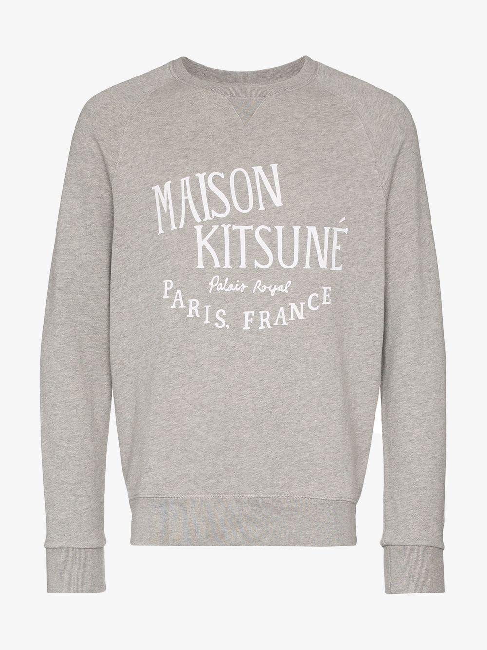 Maison Kitsune Maison Kitsune Kits Palais Crw Swt Gry Maisonkitsune Cloth Maison Kitsune Kitsune Maison Kitsune [ 1334 x 1000 Pixel ]