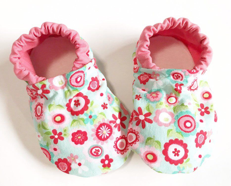 ab0b8465ecff3 Floral baby shoes soft toddler shoes baby booties for girl newborn ...