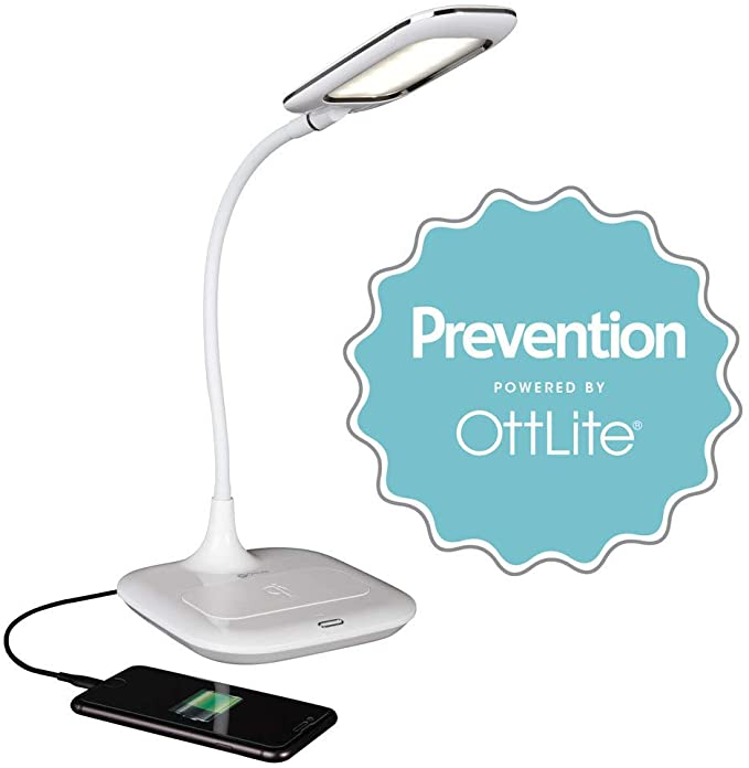 Prevention By Ottlite Led Desk Lamp With Wireless Charging 3 Color Modes And Touch Controls Amazon Com Led Desk Lamp Prevention Desk Lamp