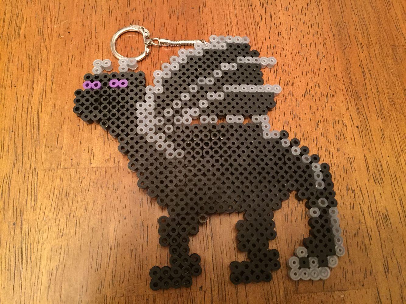 Minecraft ender dragon perler bead keychain