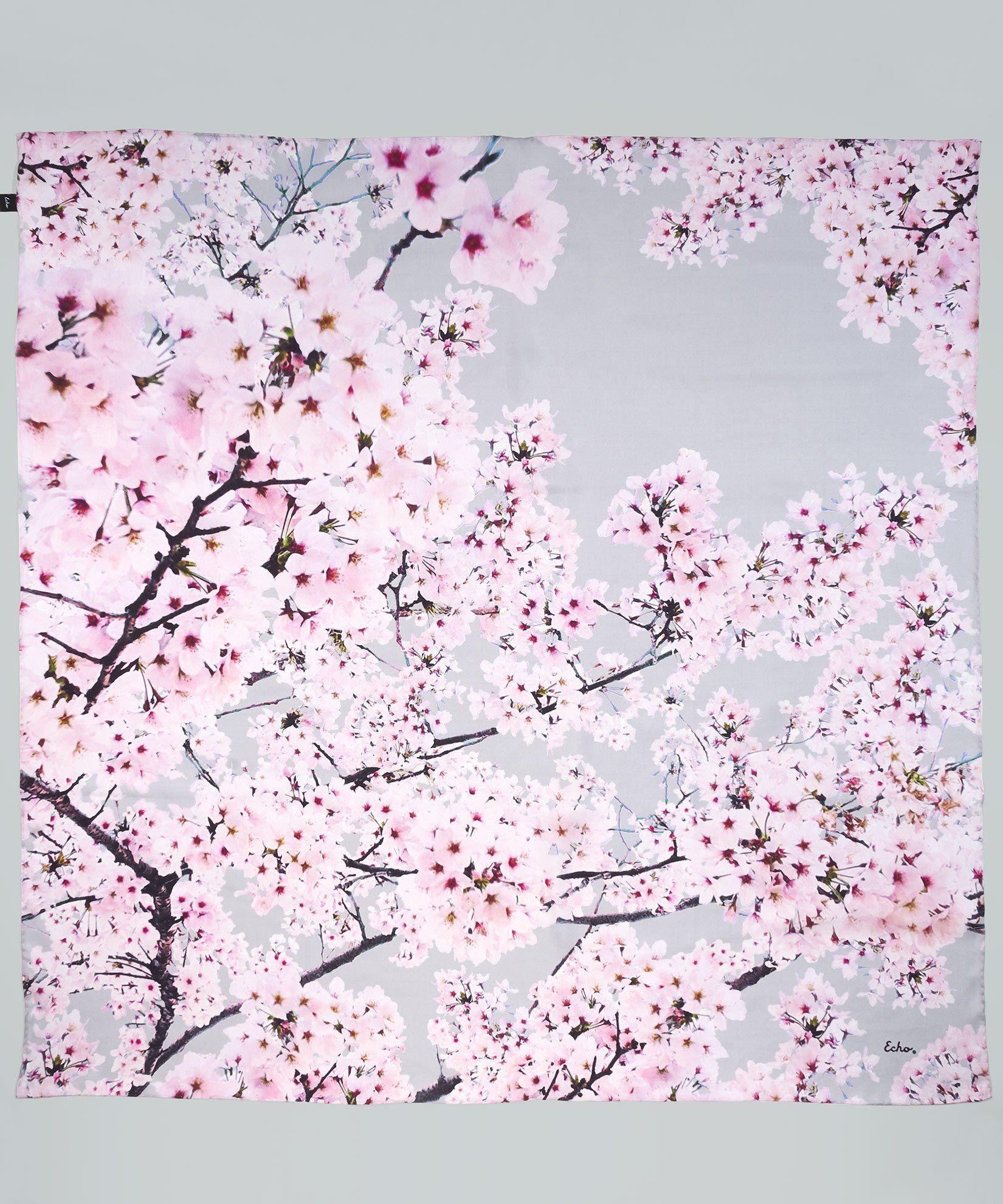 Cherry Blossoms Silk Square In 2021 Cherry Blossom Wallpaper Cherry Blossom Petals Cherry Blossom Bedroom