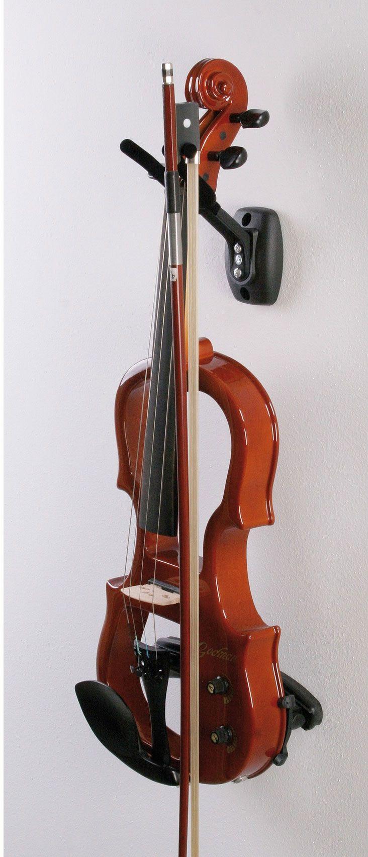 Hidear Wall Mount Violin Hanger Wall Mount Violin Hook Violin holder with Bow Holder 2 Packs