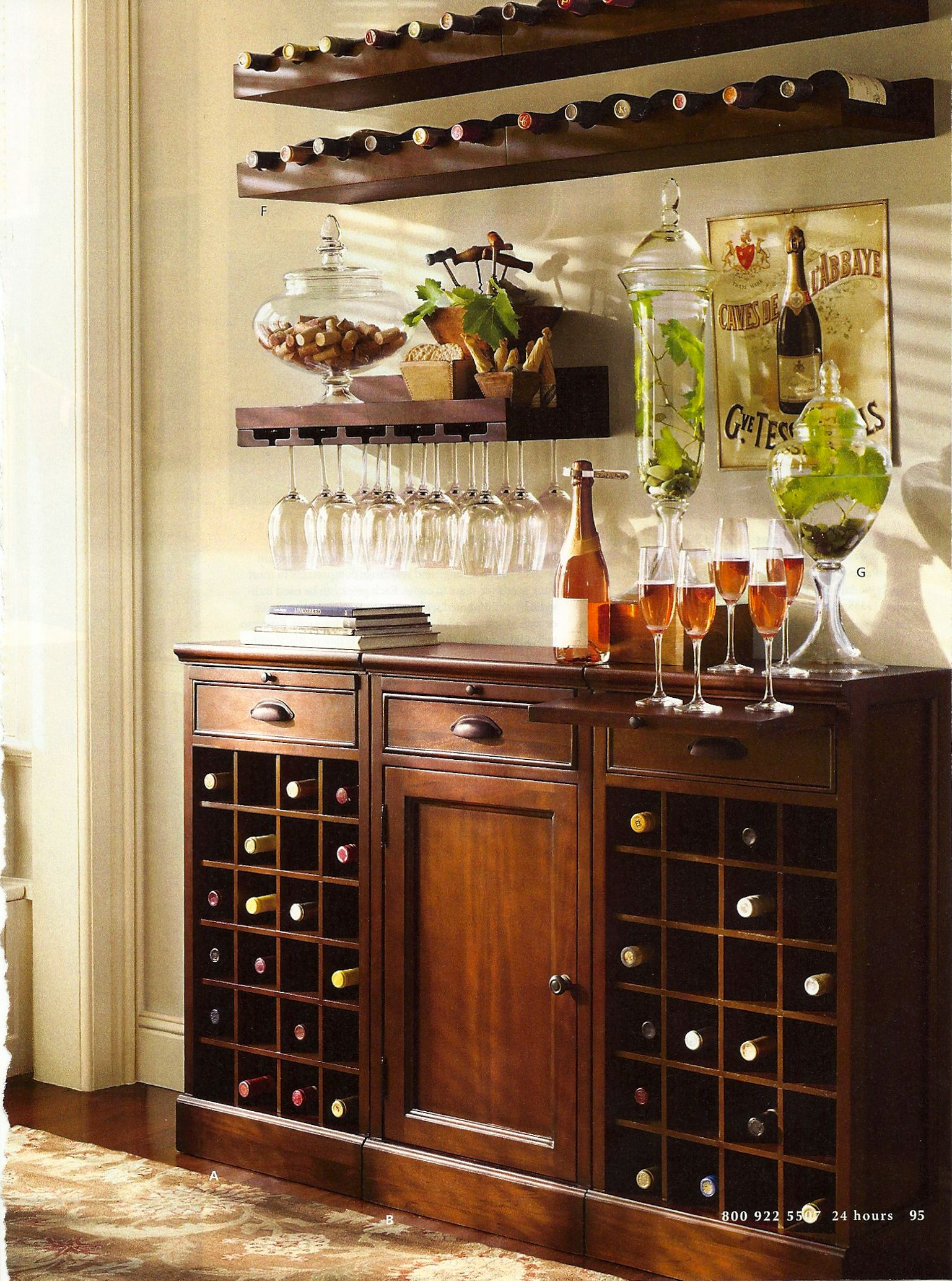 Modular Bar Buffet With 2 Wine Grids Small Bars For Home Bars For Home Home Decor