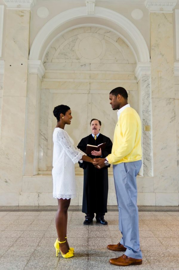 Atlanta Courthouse Wedding with Yellow Color Scheme by ...