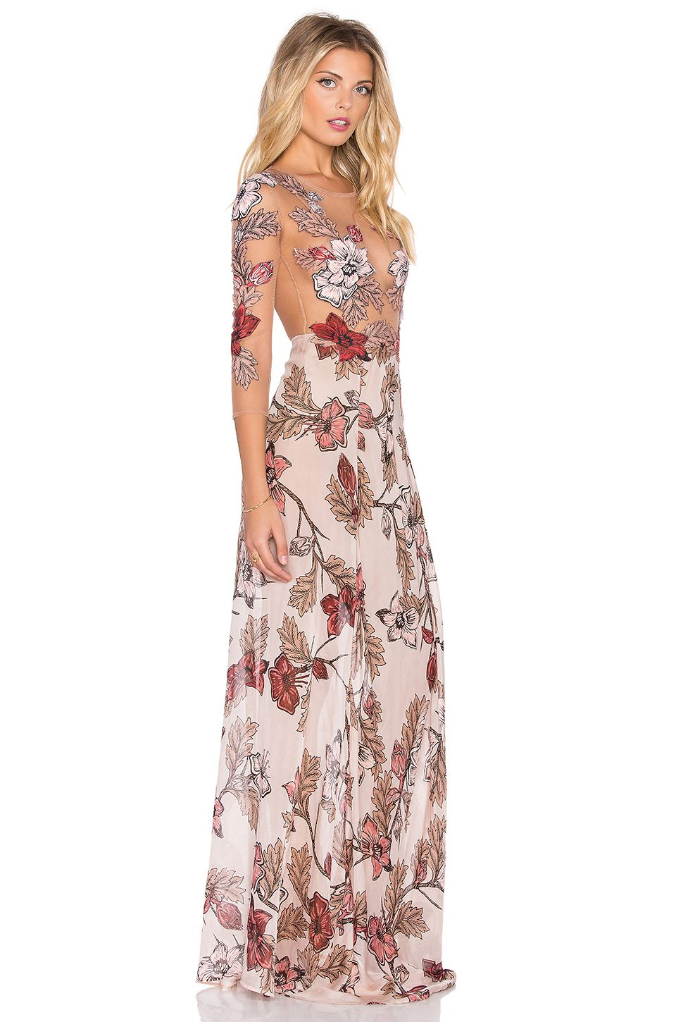 716c8321f2a For Love   Lemons Sierra Maxi Dress in Blush Floral