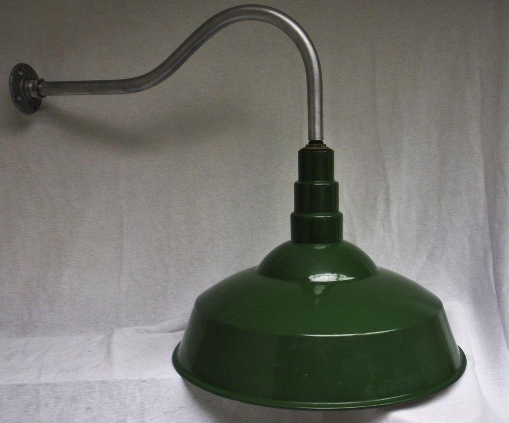 old industrial lighting. Vintage Barn Light Industrial Old Yard Sign Gas Station Porcelain Shade 20\ Lighting E