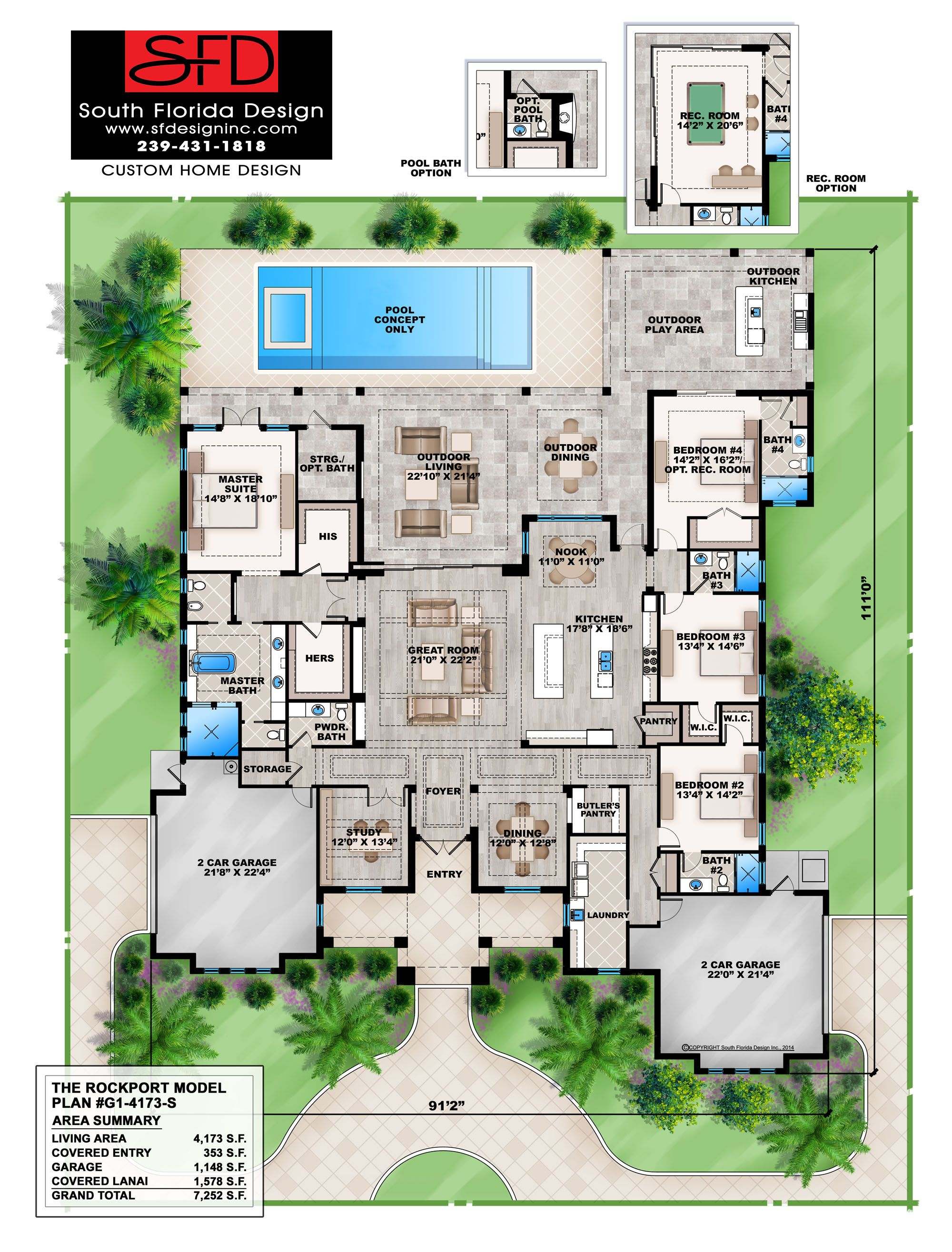 South Florida Designs Contemporary 1 Floor Home Design South Florida Design Florida House Plans Mediterranean Style House Plans Mediterranean House Plan