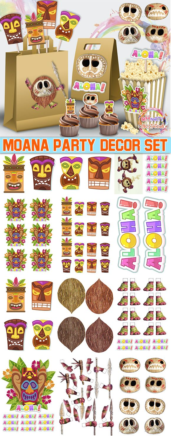 picture relating to Kakamora Printable titled Moana Kakamora printable Aloha social gathering. Moana social gathering products