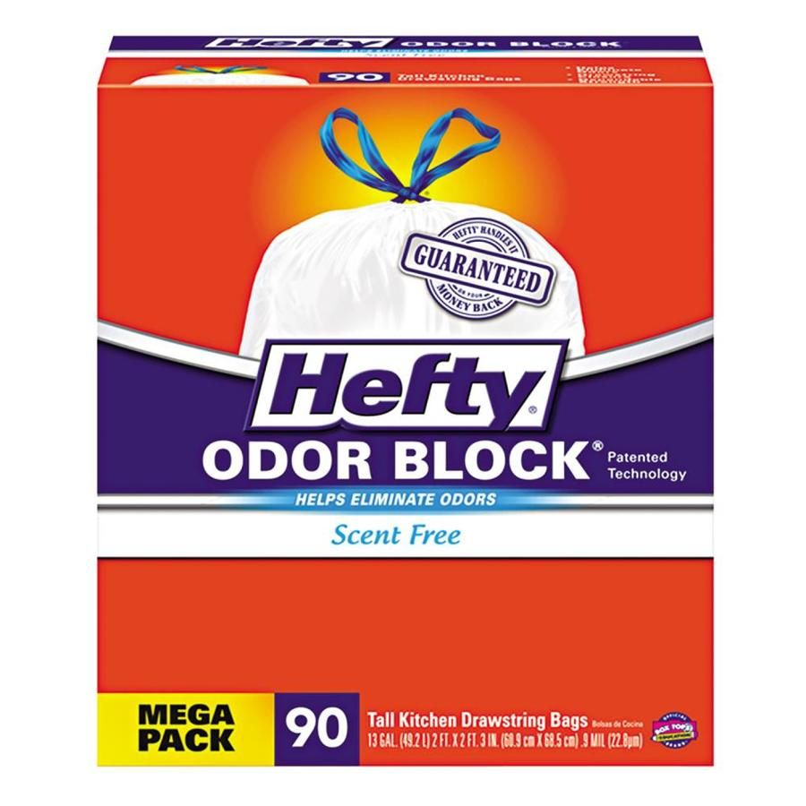 Hefty 270 Pack 13 Gallon White Plastic Can Trash Bag Lowes Com In 2020 Hefty Kitchen Bag Trash Bags