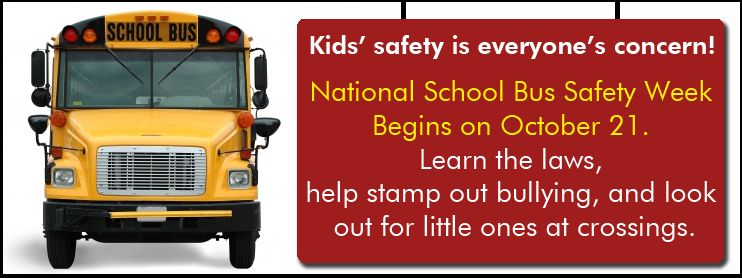 National school bus safety week with images school bus