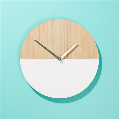 Round Clock - White Dipped   Kmart - $5 only!!!