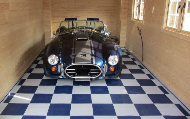 New Garage With Mototile Floor Tiles Floors Pinterest Tiles - Gridlock floor tiles