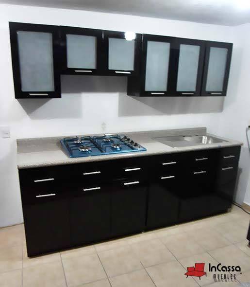 Cocina minimalista mod. kenia 2.40m. 3 modulos superiores y 1 ...